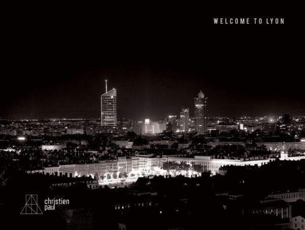 Christien Paul - Post Card Magnet (welcome to lyon)